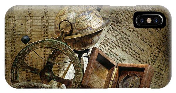 Navigation iPhone Case - Historical Navigation by Bernard Jaubert