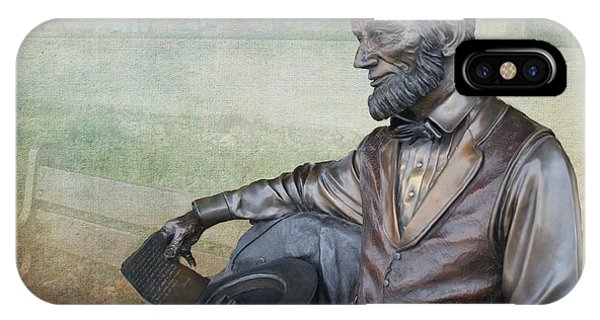 History - Abraham Lincoln Contemplates -  Luther Fine Art IPhone Case