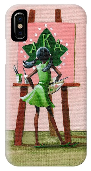 African American iPhone Case - Hmmm  A Little More Pink by Jerome White