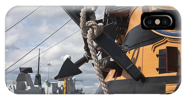 Hms Diamond And Hms Victory IPhone Case