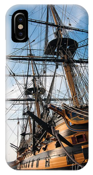 Hms Victory In Portsmouth Dockyard IPhone Case