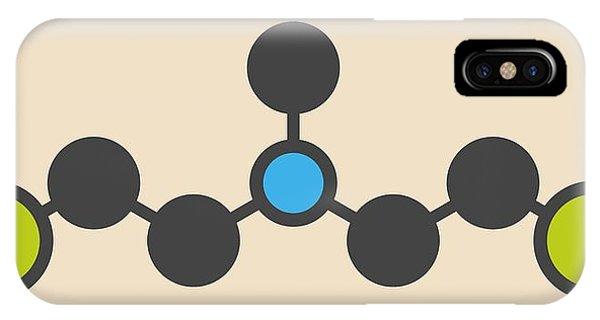 Mustard iPhone Case - Hn2 Nitrogen Mustard Molecule by Molekuul
