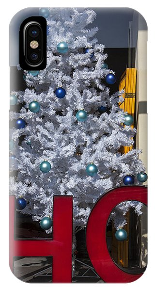 Window Shopping iPhone Case - Ho Christmas Tree by Garry Gay