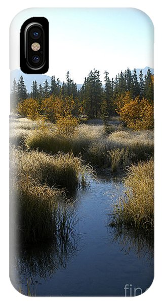 Hoar Frost And Stream IPhone Case