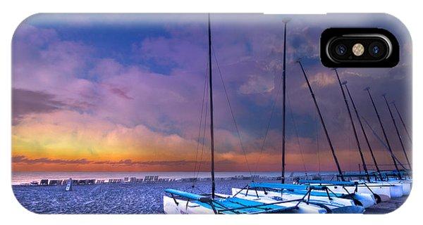 Catamaran iPhone Case - Hobecats by Debra and Dave Vanderlaan