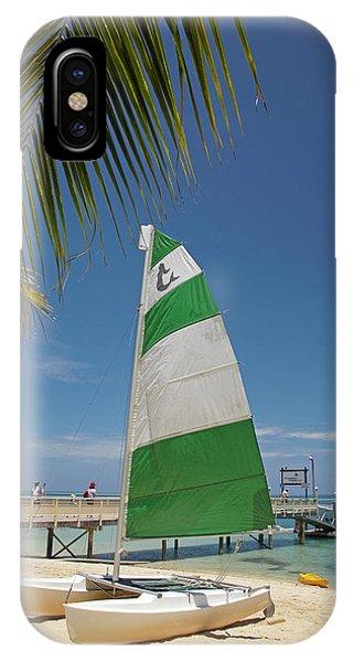 Catamaran iPhone Case - Hobie Cat, Plantation Island Resort by David Wall