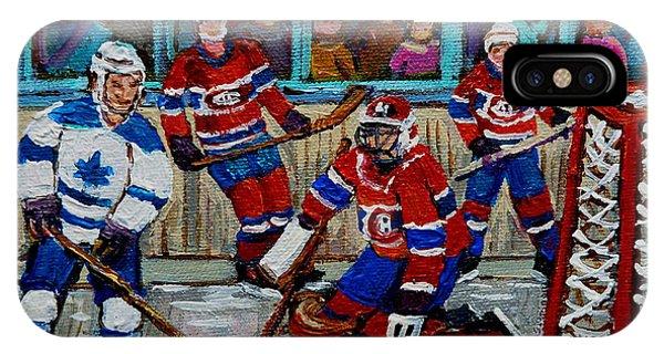 Hockey Art Vintage Game Montreal Forum IPhone Case
