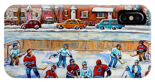 Hockey Rink At Van Horne Montreal IPhone Case