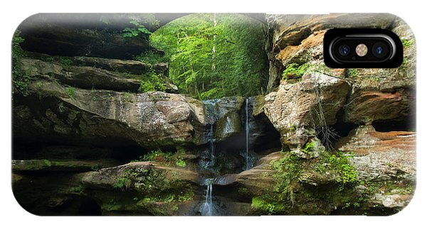 Hocking Hills Waterfall 1 IPhone Case