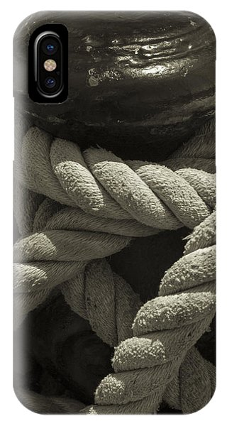 Hold On Black And White Sepia IPhone Case