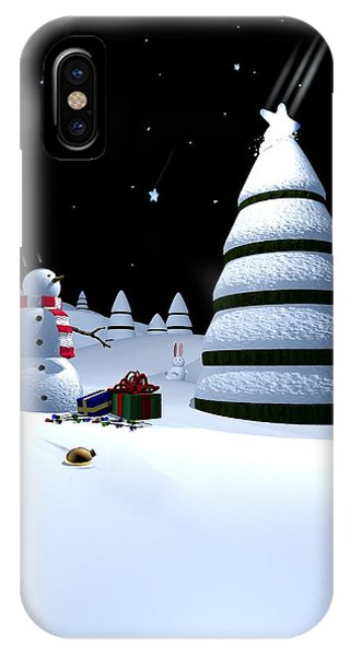 Holiday Falling Star IPhone Case