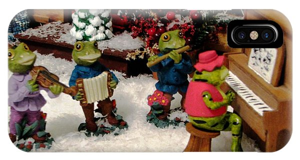 Holiday Recital By The Frogs IPhone Case