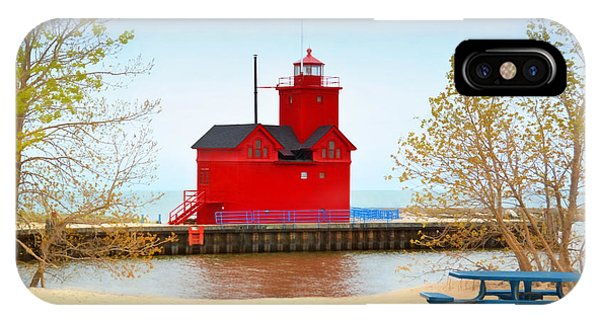Holland Harbor Light IPhone Case