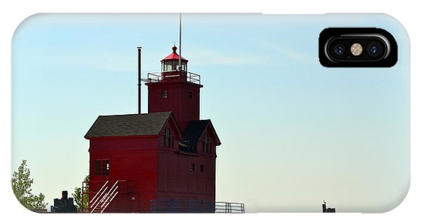 Holland Harbor Light Vignette IPhone Case