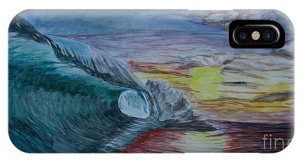 Hollow Wave At Sunset IPhone Case