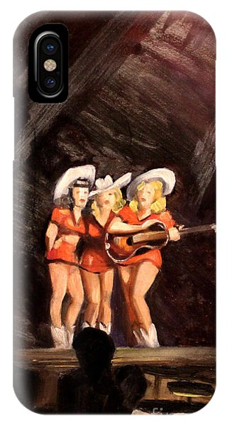 Holloywood Cowgirls On Stage  1940 IPhone Case