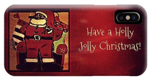 Holly Jolly Santa  IPhone Case