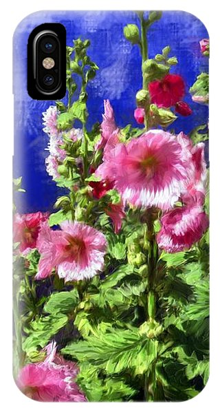 Hollyhock Haven IPhone Case