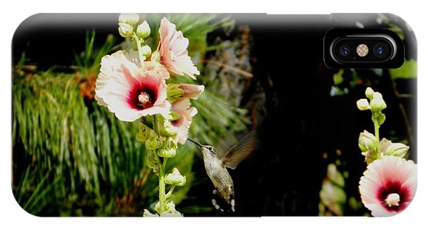 Hollyhock Heaven IPhone Case