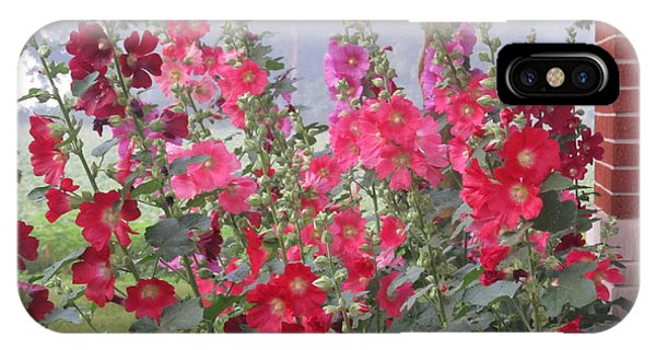 Hollyhocks Mix IPhone Case