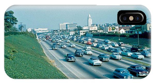 Hollywood Freeway 2 1954 Phone Case by Cumberland Warden