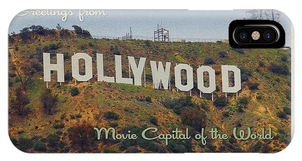 Hollywood Postcard Phone Case by Bill Jonas