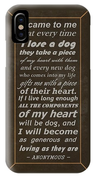 Homage To The Dogs In Our Lives IPhone Case