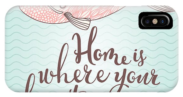 Baby Blue iPhone Case - Home Is Where Your Heart Is - Stylish by Smilewithjul