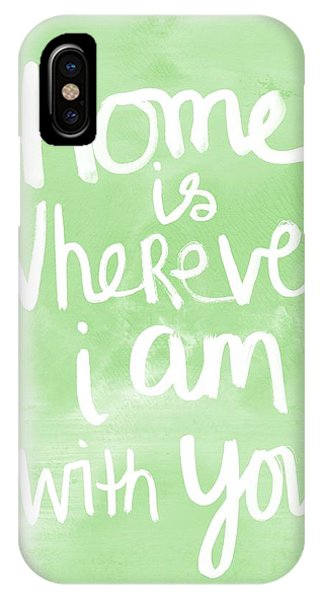 I Love You iPhone Case - Home Is Wherever I Am With You- Inspirational Art by Linda Woods