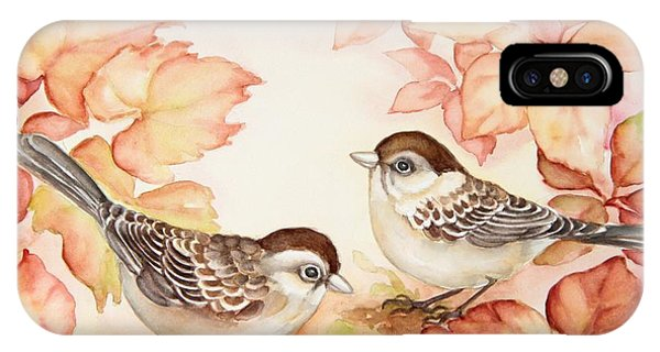 Home Sparrows IPhone Case