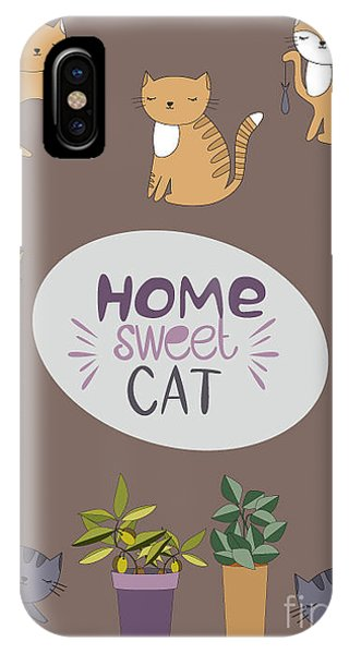 Humor iPhone Case - Home Sweet Cat by Mio Buono