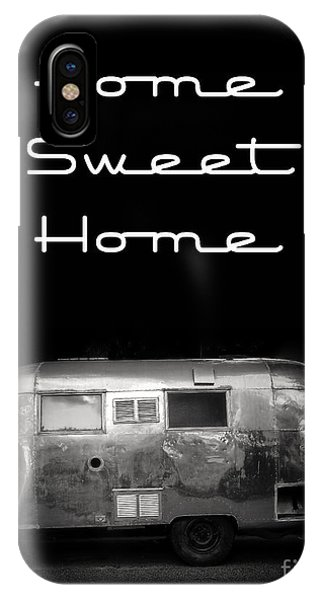 Travel iPhone Case - Home Sweet Home Vintage Airstream by Edward Fielding