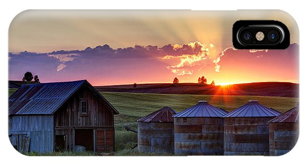 Sunset iPhone Case - Home Town Sunset by Mark Kiver