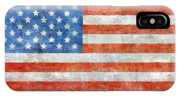 American Flag iPhone Case - Homeland by Michelle Calkins