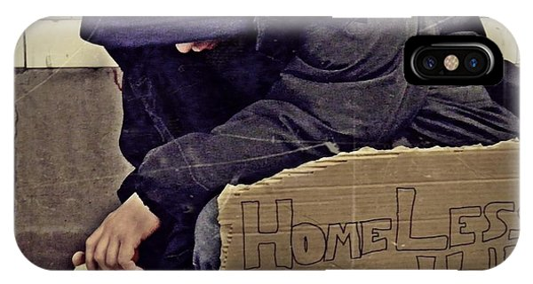 Homeless Please Help IPhone Case