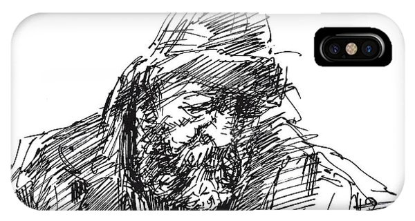 Sketch iPhone Case - Homeless by Ylli Haruni