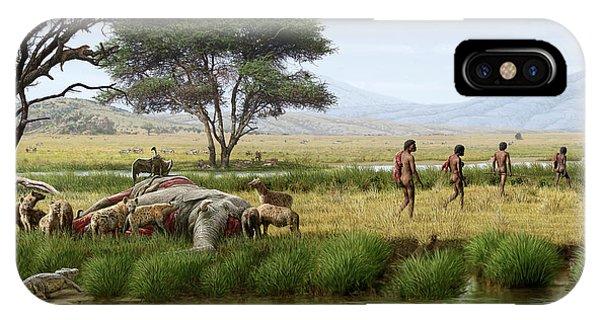 Homo Ergaster Hunters IPhone Case