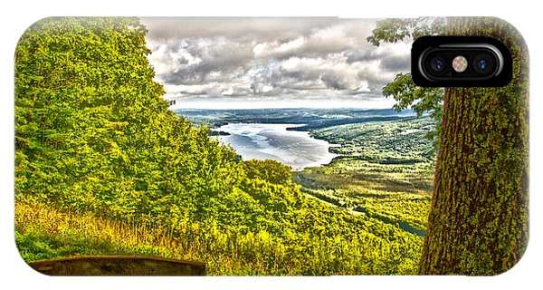 IPhone Case featuring the photograph Honeoye Lake Overlook by William Norton