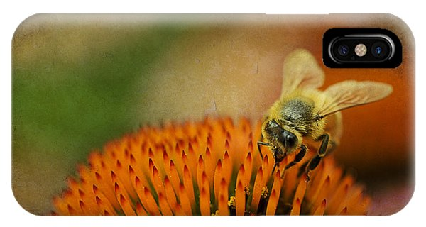 IPhone Case featuring the photograph Honey Bee On Flower by Dan Friend