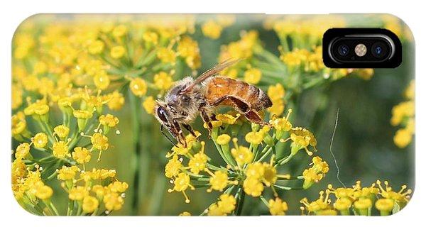 Honeybee On Dill IPhone Case