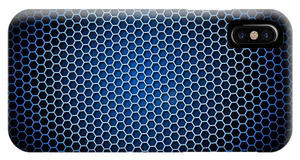 Honeycomb Background Blue IPhone Case