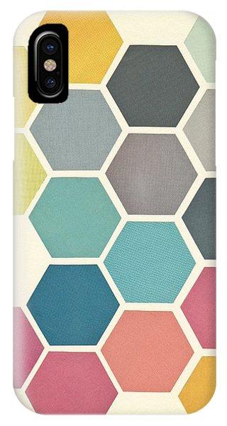 Geometric iPhone X Case - Honeycomb II by Cassia Beck