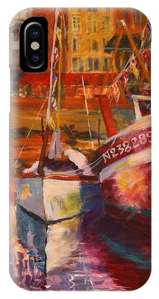 Honfleur Harbor IPhone Case