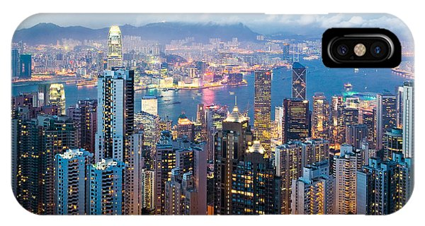 Cityscape iPhone Case - Hong Kong At Dusk by Dave Bowman