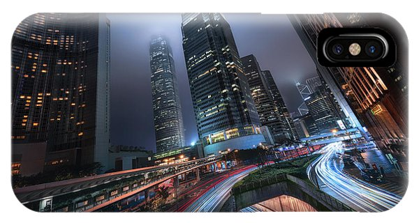Hong Kong iPhone Case - Hong Kong City Lights by Jes?s M. Garc?a