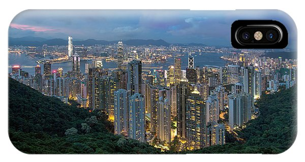 Hong Kong From Sky Terrace 428 At Victoria Peak IPhone Case