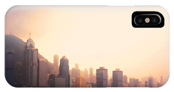 Hong Kong iPhone Case - Hong Kong Harbour Sunset by Pixel  Chimp