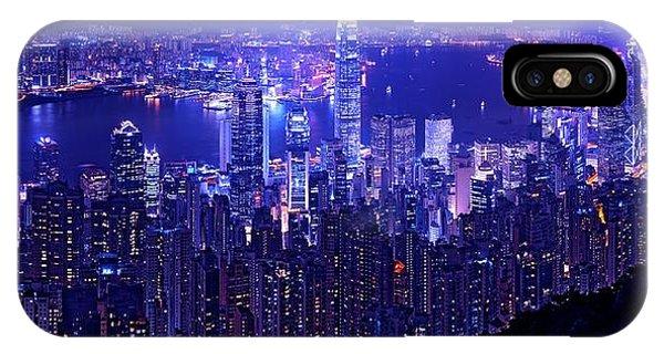 Hong Kong In Purple IPhone Case