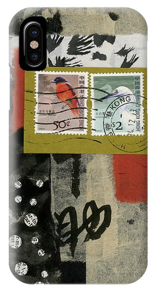 Hong Kong iPhone Case - Hong Kong Postage Collage by Carol Leigh