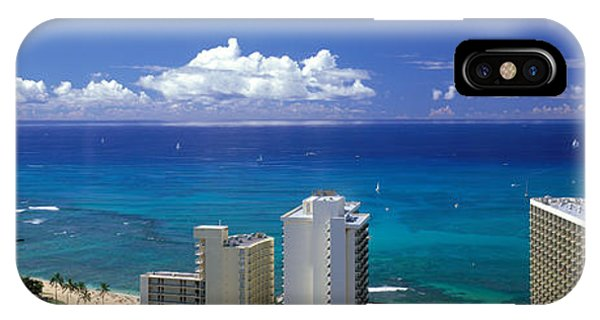 Oceanfront iPhone Case - Honolulu Hawaii by Panoramic Images